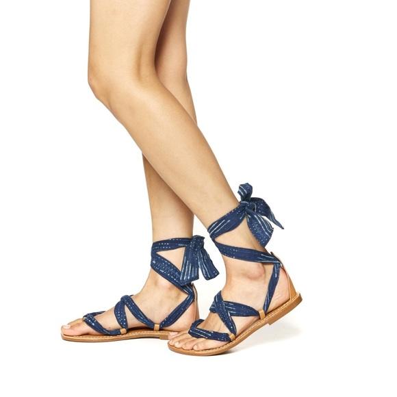 18777af5aec1 Soludos Indigo Bandana Sandal (Size 8)